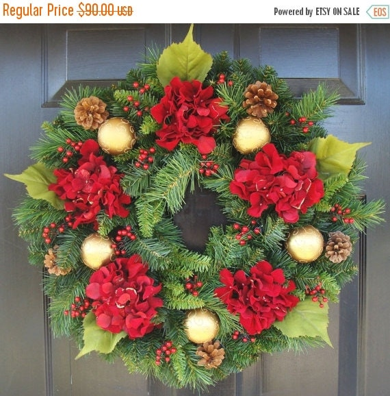 christmas wreath sale hydrangea christmas wreath by. Black Bedroom Furniture Sets. Home Design Ideas