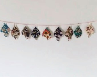 CUSTOM ORDER Floral Impressions Handmade Bead Earrings Fringe Original Designs