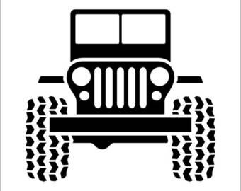 Jeep Willy's Decal  Cup Window You Choose Size & Color