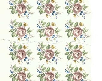 Decals for ceramic and glass, Vintage, floral, roses, pink -BULK LOT