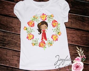 Elena of Avalor Tee - Elena of Avalor Outfit -Princess Shirt - Elena Shirt
