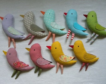 Bird   cotton fabric