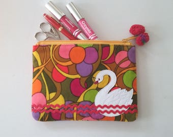 Swan Pouch Phone Case  Cosmetic Bag