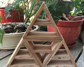 Four Shelves in One, Triangle Shelves, Pyramid Shelves, Lot of Triangles, Raw Triangle Shelf, Raw Pyramid Shelf