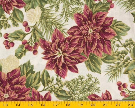 christmas cotton fabric winter garden for joann 39 s 43 in