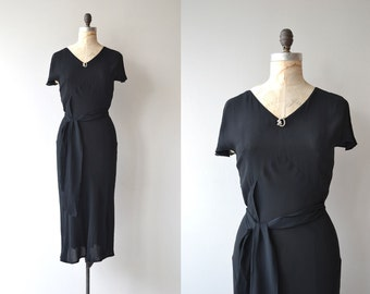 Lucky Night dress | vintage 1930s dress | black 30s dress