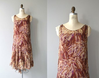 Bookplate silk dress | 1920s silk dress | vintage 20s dress