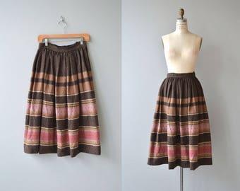 Bansko wool skirt   vintage 1950s skirt   wool 50s skirt