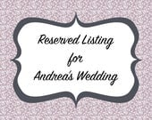 Reserved Listing for Andrea's Wedding - Bridesmaids Dresses