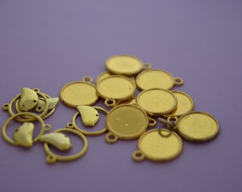 Cluster of Gold Based Charms and Discs