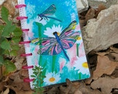 Dragonfly Mini Planner Cover - Disc Bound Planner - Disc Bound Journal- Dragonfly Art - Higher Intuitions Oracle Art - Arc System - HP Cover