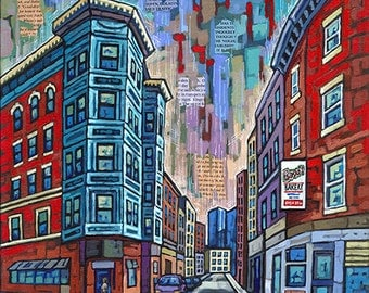 Boston, Little Italy, Boston North End, Bovas Bakery, 8x10 Art Print by Anastasia Mak
