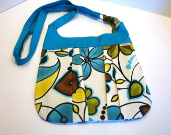 Pleated Cross Body Bag - Hobo Bag - Pleated Handbag - Sling Bag - Pleated BoHo Bag