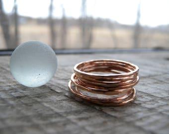 Hammered Rose Gold Stacking Ring
