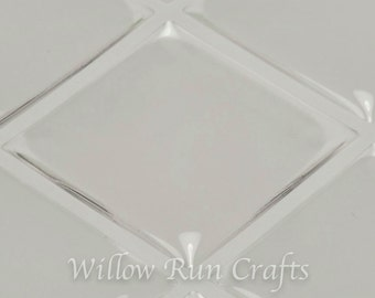 10 Pack 1 inch Square Clear Epoxy Domes Stickers  (01-05-220)