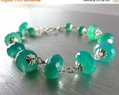 25OFF Green Onyx and Sterling Silver Bracelet