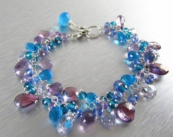 20 Off Turquoise and Lavender Gemstone Bracelet