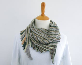 Scarf - Country Walk.Hand Knit Scarf.Unisex Scarf.