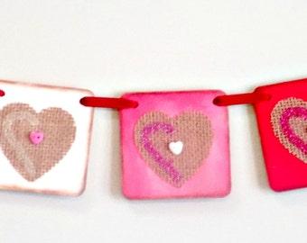 Valentine Banner-Valentine Sign-Rustic Valentine-Valentine Decor-Valentines Day-Valentines Gift-Valentines Party Sign-Teacher Valentine-Love