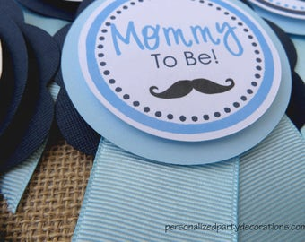 Mustache Baby Shower Decorations, Baby Shower Decorations, Baby Shower Décor, Mustache Baby Shower Mom To Be PIN, Custom Colors