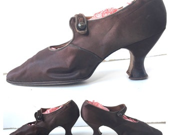 Gorgeous Silk and Leather Edwardian Women's Shoes