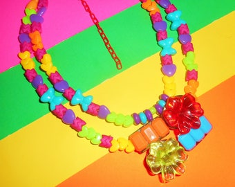Funky Flowers Necklace