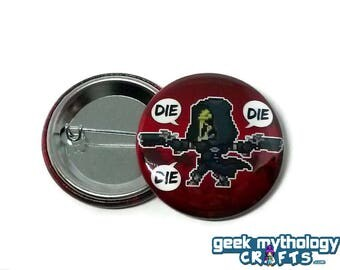 "Reaper Hero Pins - 1.5"" Pin Button or Magnet"
