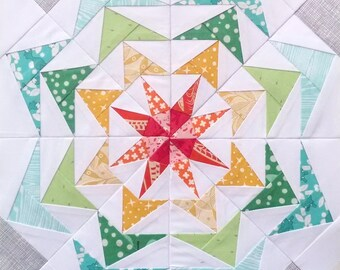 Paper Piecing Quilt Pattern - 80's Geese #250 - Quilt Pattern - 12 inch