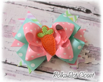Easter Carrot Hair Bow/headband