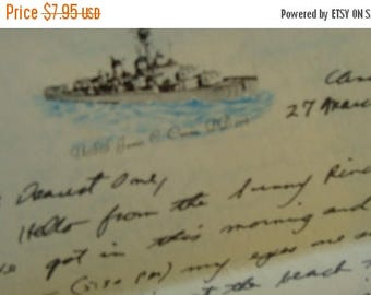 ON SALE Antique Handwritten Love Letter from a Solider to His Darling Wife 1960  from the New York Base