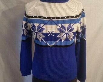 Vintage ski sweater,  size 36