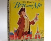 Vintage Ben and Me, Benjamin Franklin, Historical Story, Little Golden Book, Walt Disney, 1954, Read Aloud, Bedtime Story, Educational