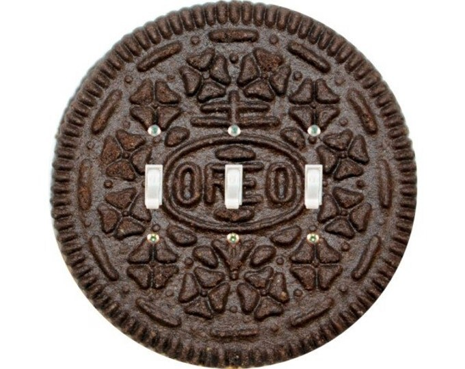 Chocolate Sandwich Cookie Triple Toggle Switch Plate Cover