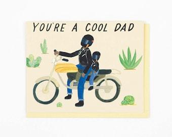 Motorcycle Dad Card