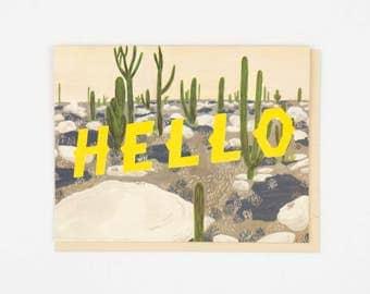 Hello Desert Card