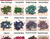 3mm Rubber Orings (Pkg of 100) - choose color