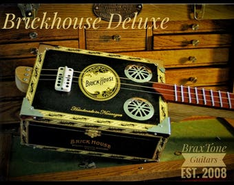 Brickhouse Deluxe cigar box slide guitar