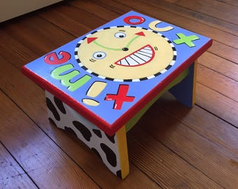 Wooden Handpainted Time Out Stool