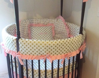 Pink And Gold Crib Bedding Canada