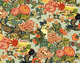 Wallpaper / Schumacher Chiang Mai Dragon Wallpaper  Listed and Priced By The Single Roll  /Save On 3 Rolls Or More
