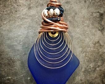 COPPER & Glass Pendant
