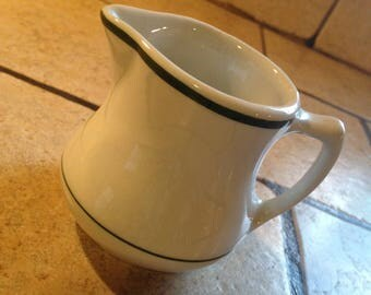 Green Band Restaurant Ware Pitcher by Shenango