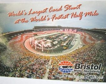 Bristol International Raceway Card Stunt  Post Card FREE Domestic Shipping