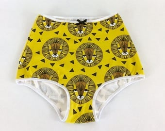 littlefour women's high waisted lion panties