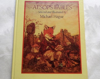Aesop's Fables by Michael Hague Hardcover Vintage Book 1985