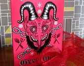 Krampus Cards  - Pack of 5  - Holidays Christmas -  Exclusive design by Dolly Cool