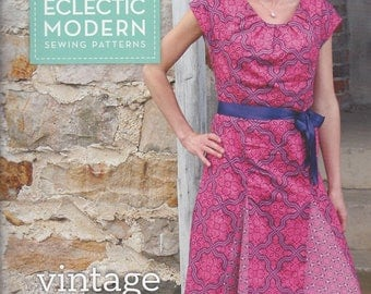 Sale!  Vintage Flutter Dress pattern ( JD005VF) - Eclectic Modern