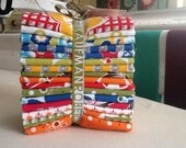 Fat Quarter Bundle RARE OutofPrint TreasuresTidbits PieceOCake Quilting Bright Children Primary Colors Kids Sewing Crafts