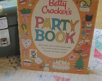 Vintage 1960 Betty Crocker Party Book with Sweet Illustrations