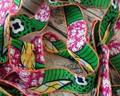 African wax print ribbon, Patterned cotton ribbon, African print ribbon, African wedding ribbon, African wedding decor, Packaging Gift wrap